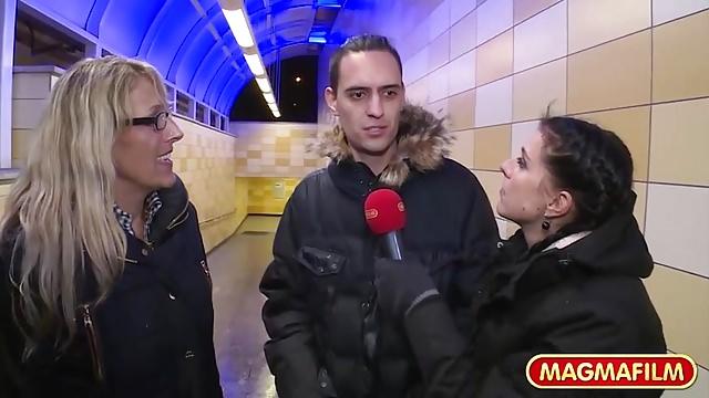 3 heisse Frauen aus Berlin verführen einen einzigen Kerl!